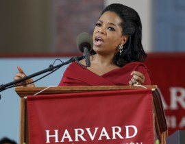 Oprah gives Commencement speech at Harvard